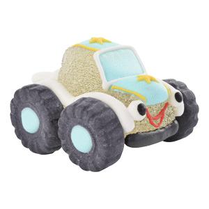 Auto/Geländewagen weiss aus Gelee und Zucker