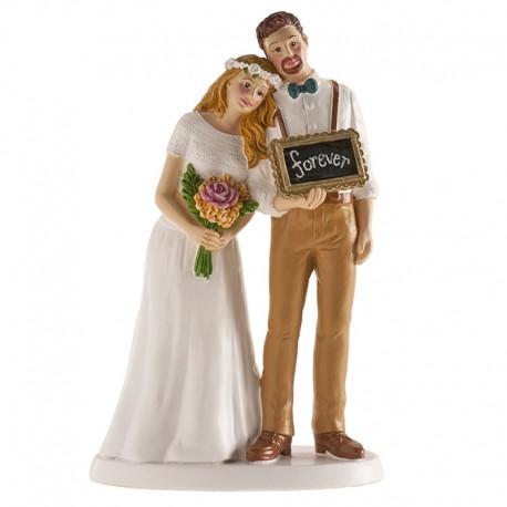 Brautpaar Vintage mit Schild