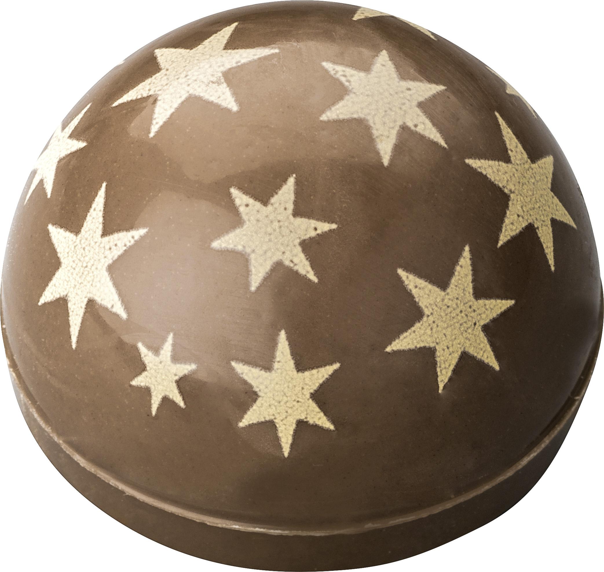 Pralinen Hohlkörper Kuppel Dekor Sterne | Vollmilch