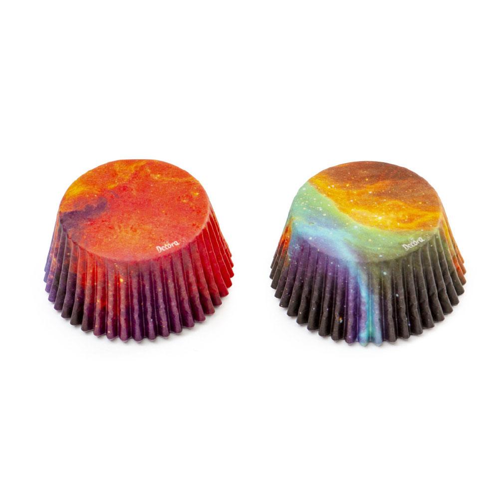 Muffinförmchen Cupcakeförmchen Galaxy