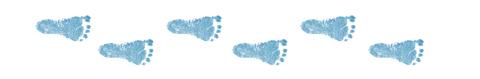 Tortenband Babyfüße blau