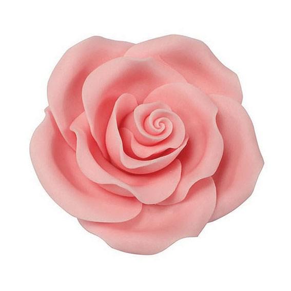 Rose hellrosa handgemacht  - 50 mm