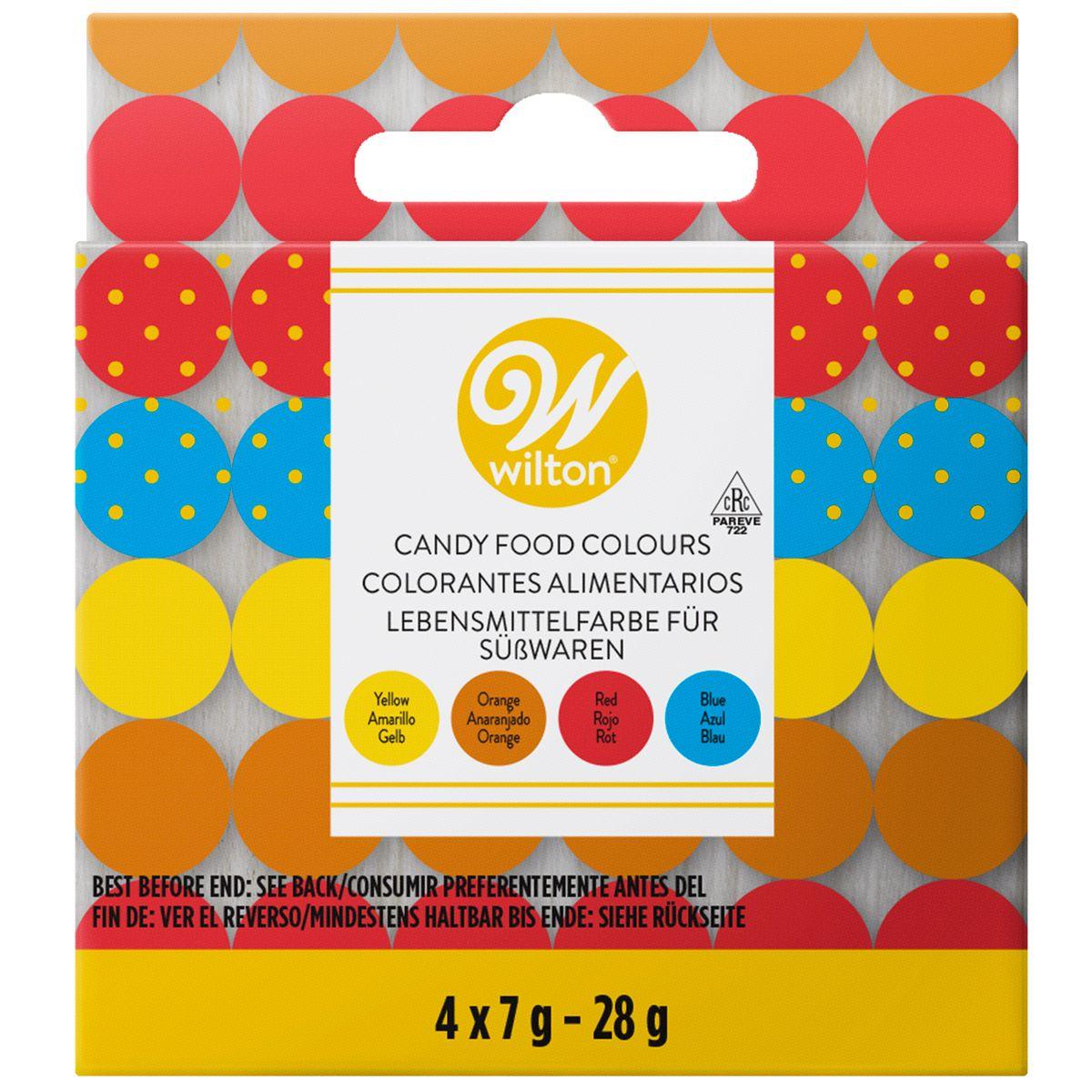 Wilton Candy Farben Set 4-teilig