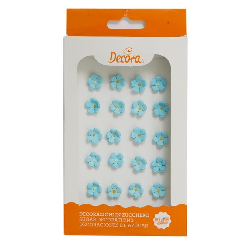 Zuckerblumen blau