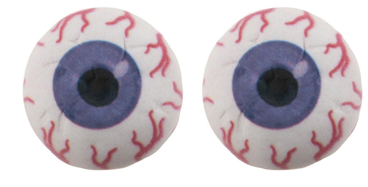 Zuckerdekoration Augen 3D lila | 2 Stk.