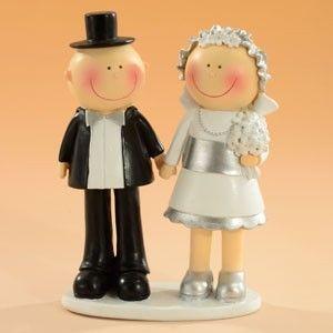 Brautpaar Hochzeit silber