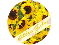 Tortenaufleger Geburtstag Sonnenblumen, essbares Tortenbild, Fotoaufleger, Foto essbar, Geschenk, Torte, Kuchen, Muffin, Cupcake Geburtstag, Zuckerbild, Fototorte, Zuckeraufleger, Fototorte, Baby, Taufe, Geburt, Kindergeburtstag, Party, Fondant, Massa Tic