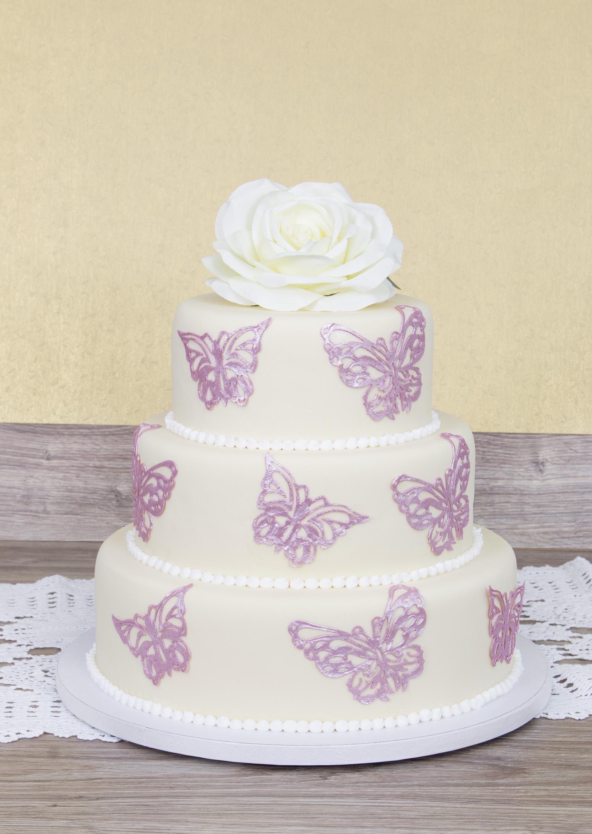 Dekor Matte Schmetterlinge | Silikon Cake Lace