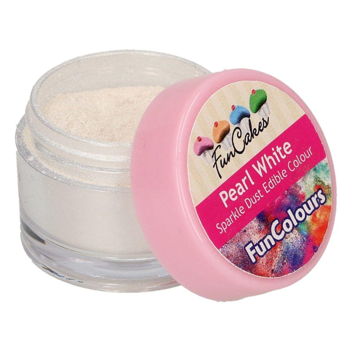 Glitterstaub pearl white