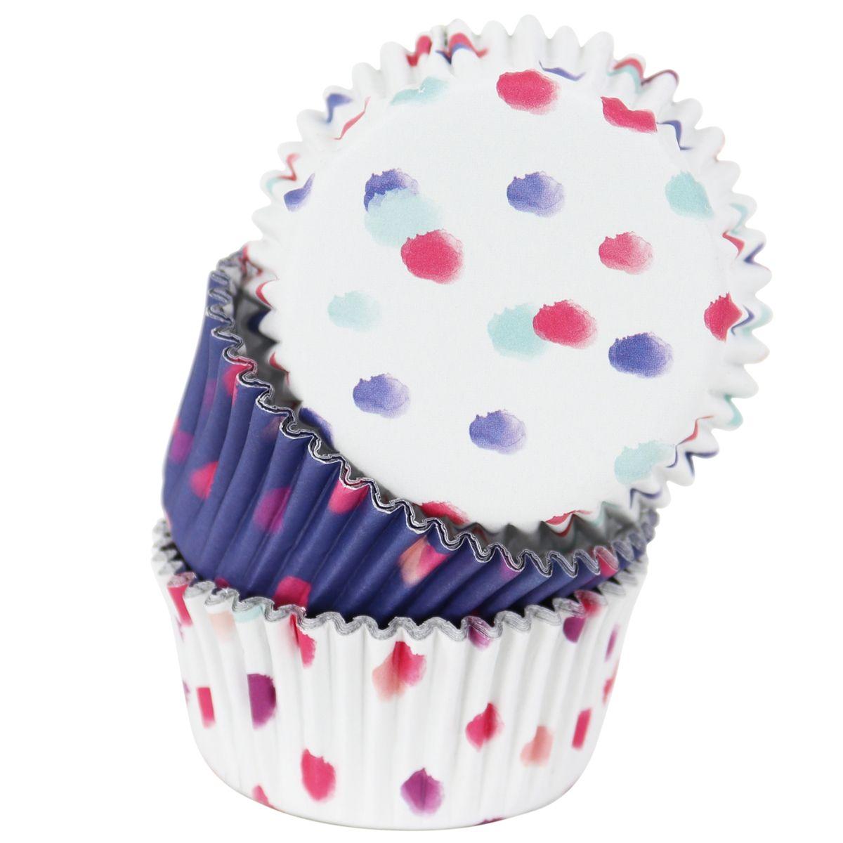 Cupcake Papierförmchen Set Aquarell 5 cm