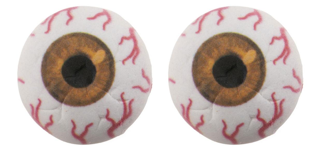 Zuckerdekoration Augen 3D gelb | 2 Stk.