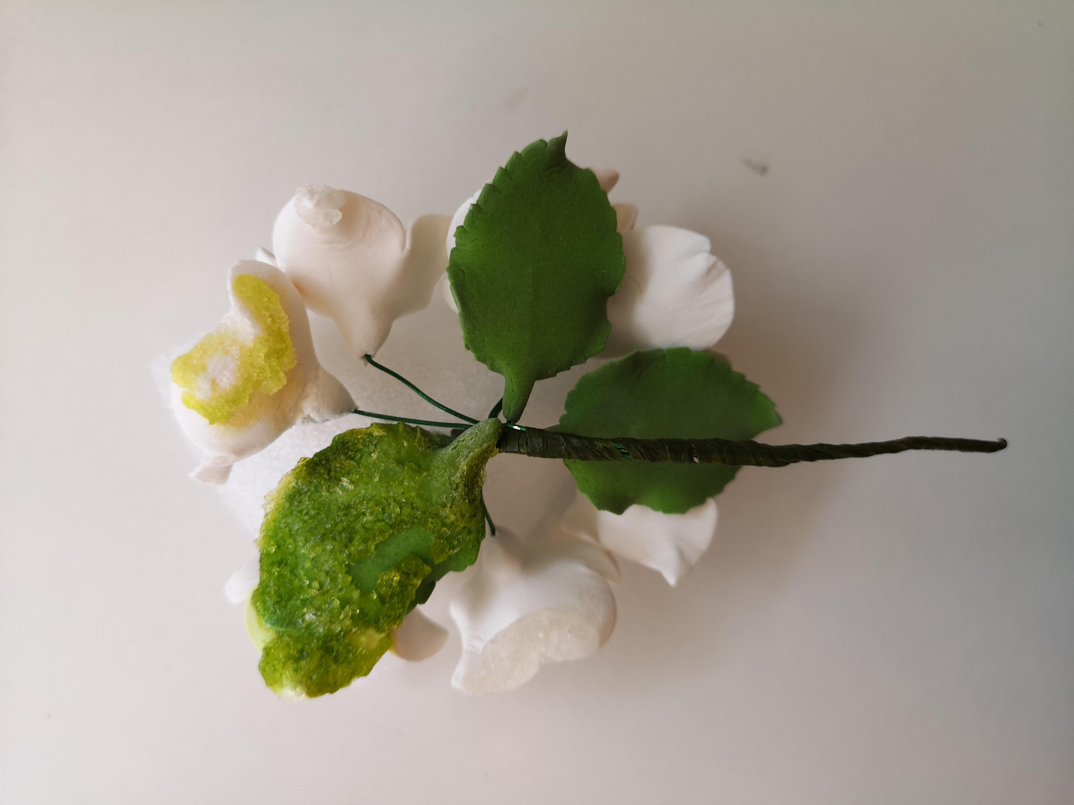 Zucker Hortensien Blumenstrauß weiß - fehlerhaft