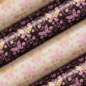 Schokoladen Transfer- Abziehfolie Blumen Schmetterling rosa