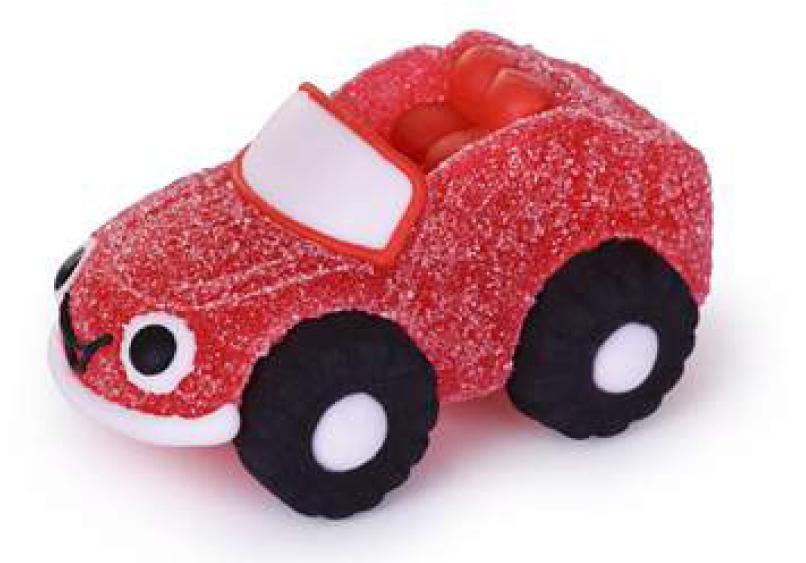 Auto/Fahrzeug rot aus Gelee und Zucker