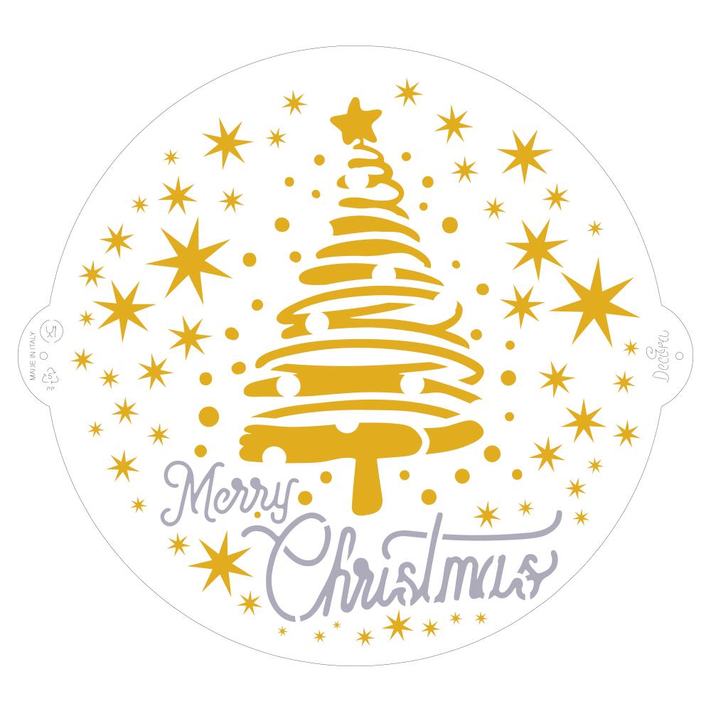 Schablone Weihnachten rund
