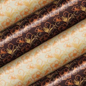 Schokoladen Transfer- Abziehfolie Blumen gold-gelb