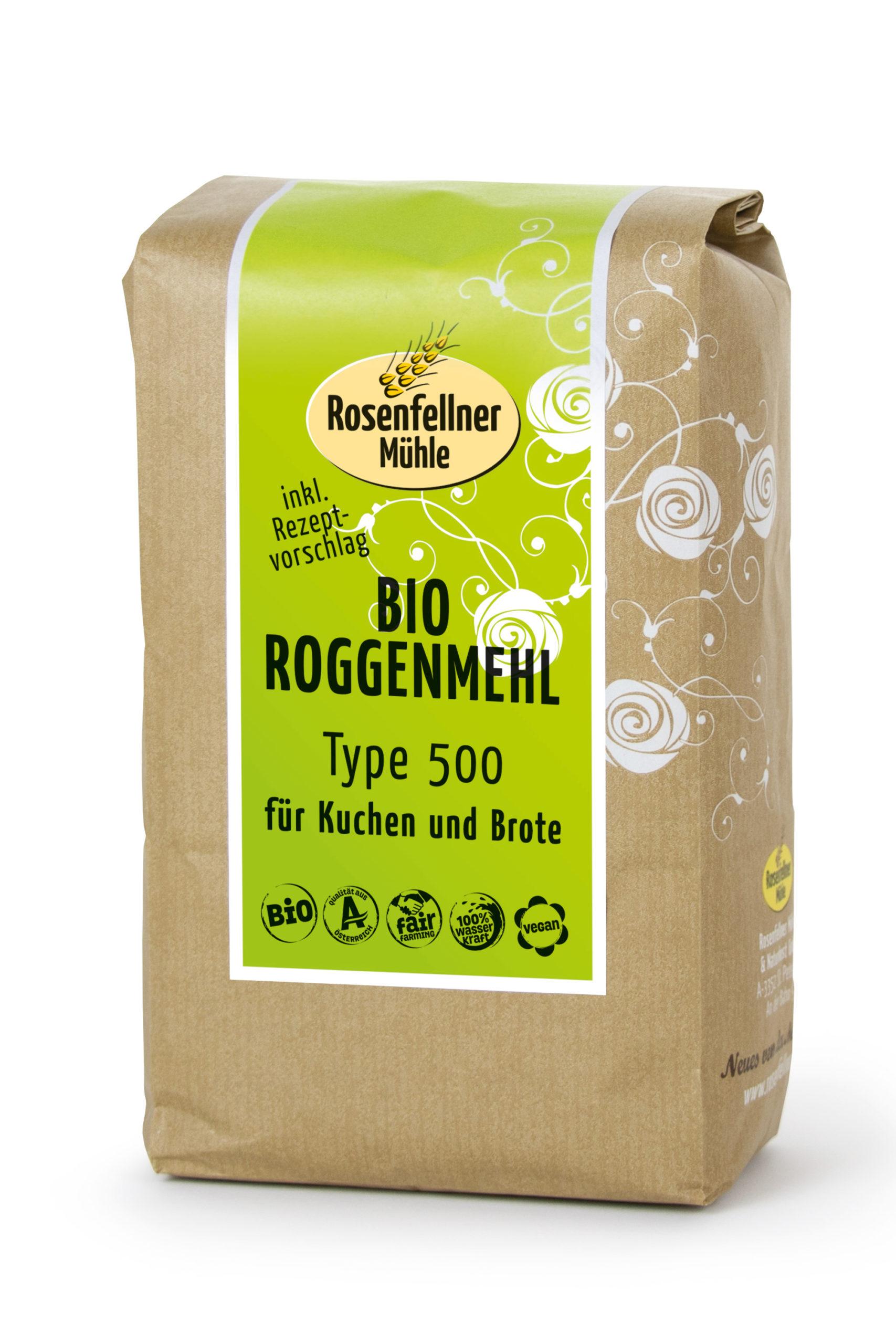 Bio Kuchen und Roggenmehl T500 750g
