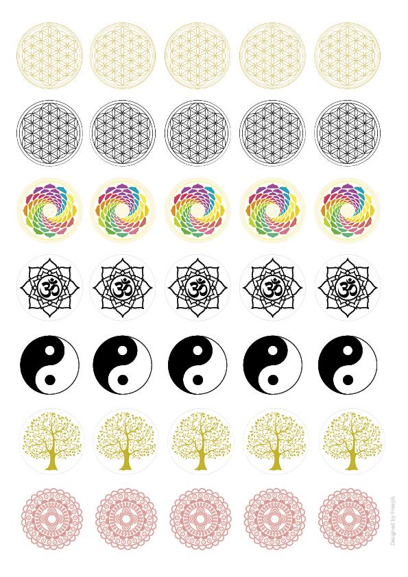Brotoblaten Spirituelle Symbole