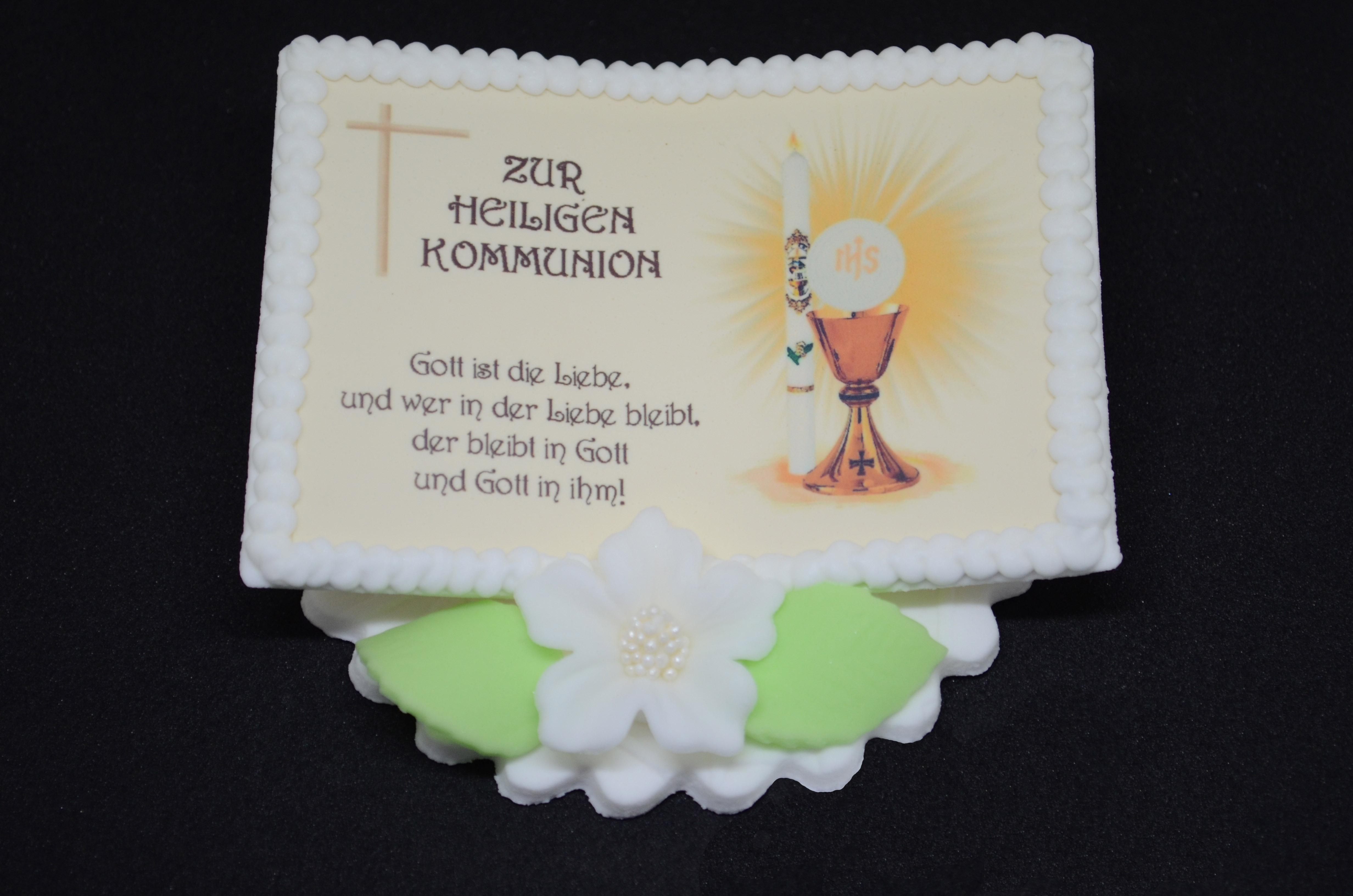 Zuckerdekoration Kommunionsbuch