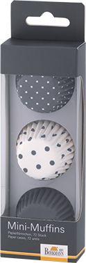 Cupcake Förmchen mini grau 4,5 cm