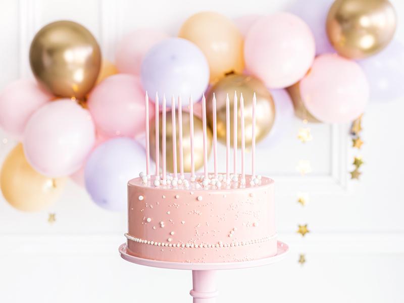 Geburtstagskerzen 12 Stk. pink