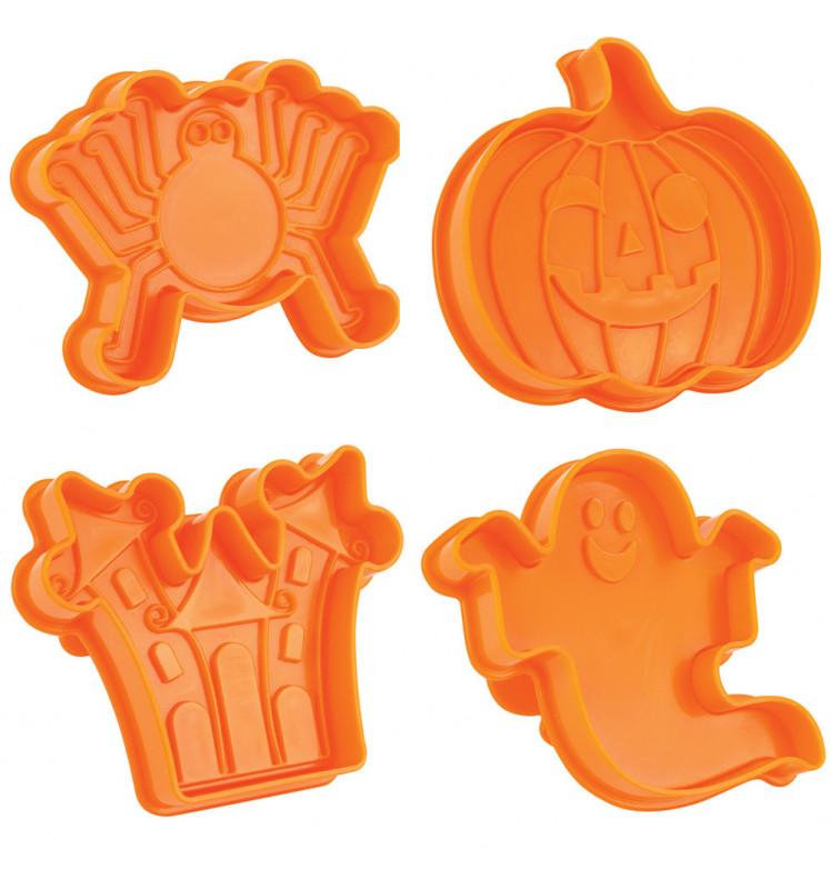 Ausstecher Set Halloween mit Prägestempel - 4 Teile