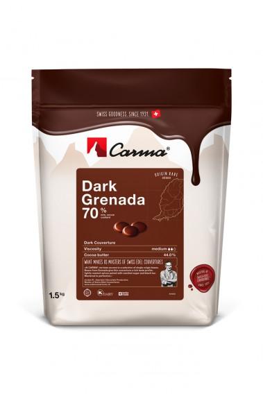 Carma Schokoladen Callets  - Dark Grenada 70% - 1,5kg
