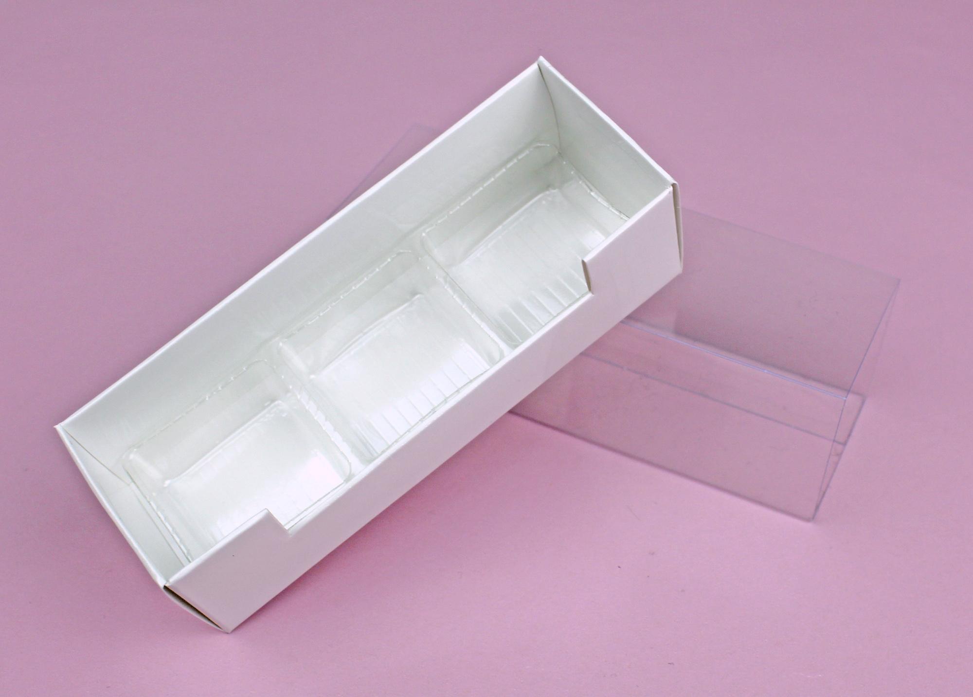 Pralinen Schachtel lang für 3 Pralinen