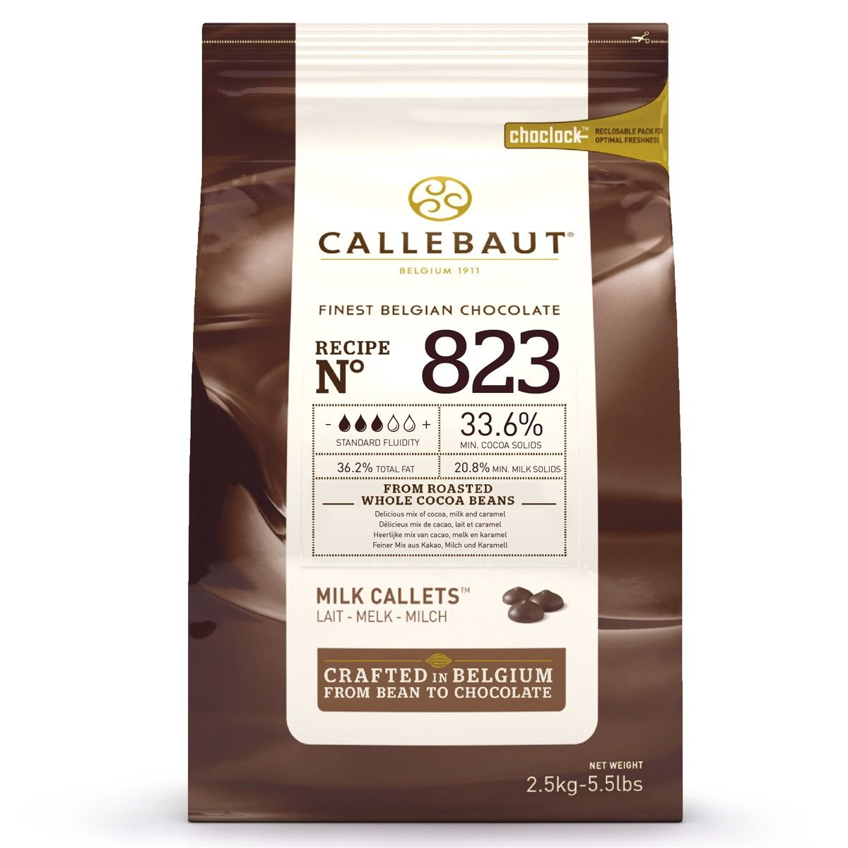 Callebaut Schokoladen Callets | Milchschokolade | 2,5 kg