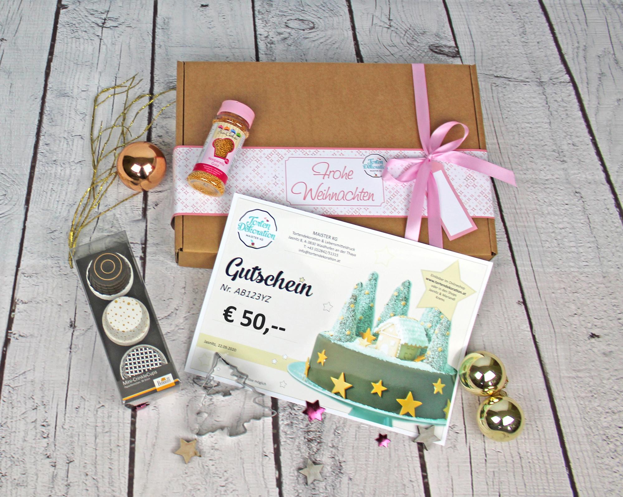 Gutscheinbox Weihnachten 50 Euro