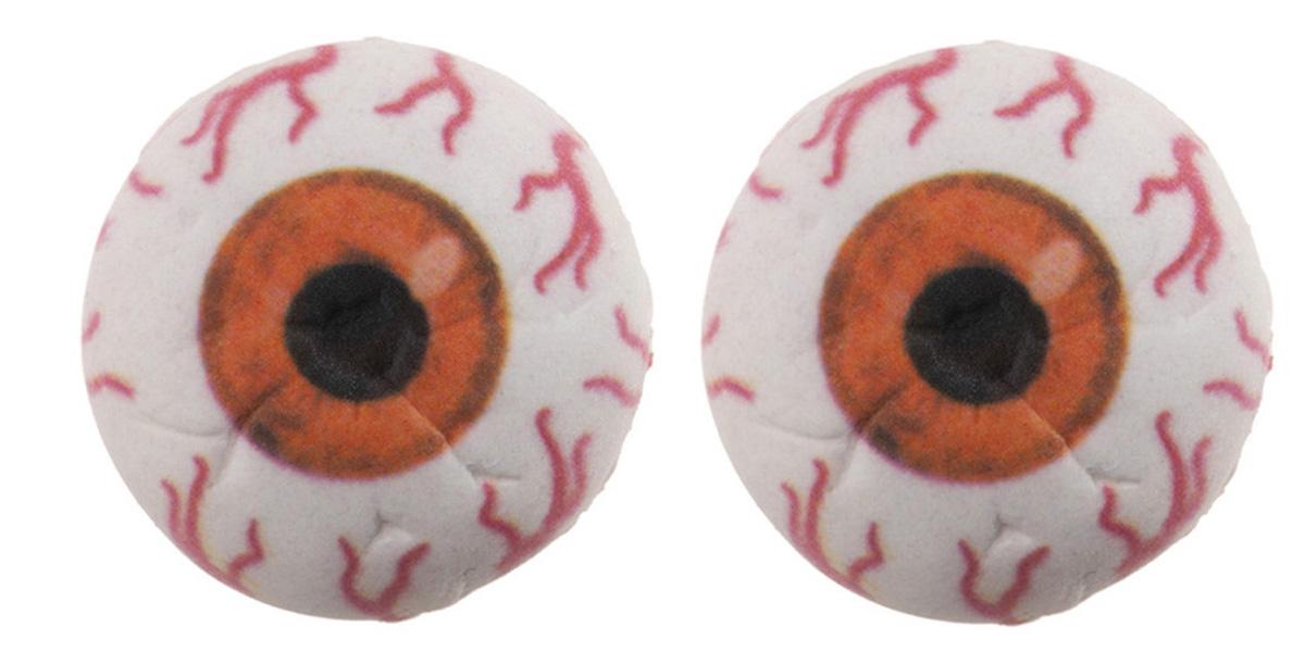 Zuckerdekoration Augen 3D lila | 2 Stk.  orange