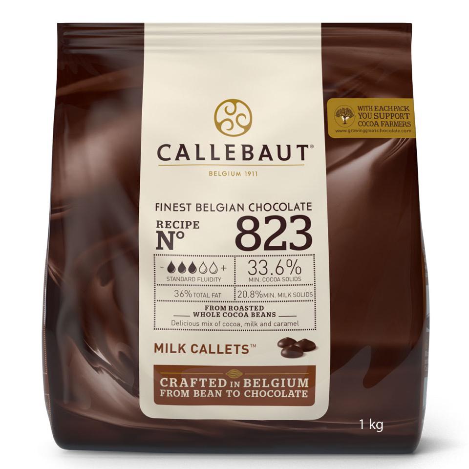 Callebaut Callets 1kg 33,6 % Milchschokolade