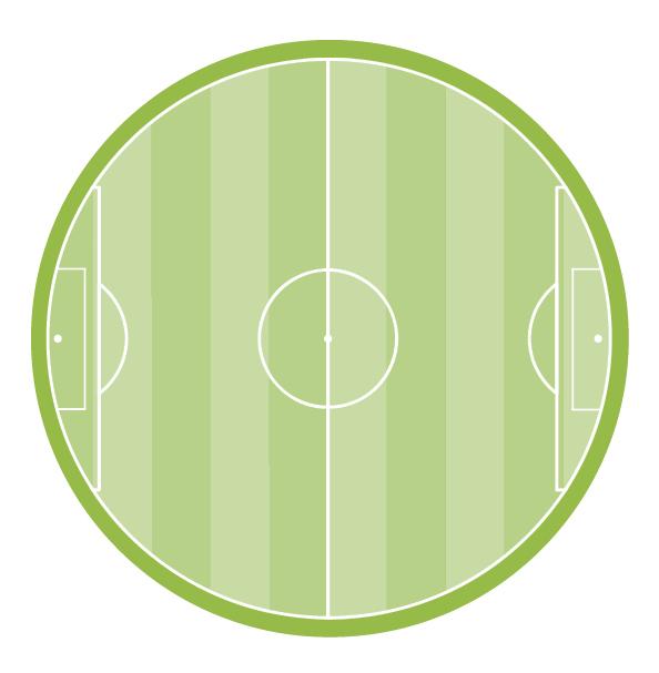 Fußballfeld rund
