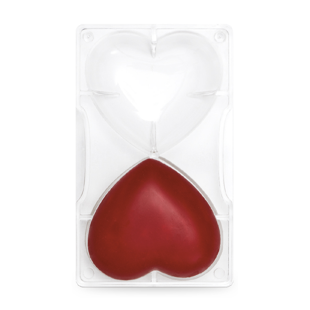 Polycarbonat Pralinen Gussform Herz groß