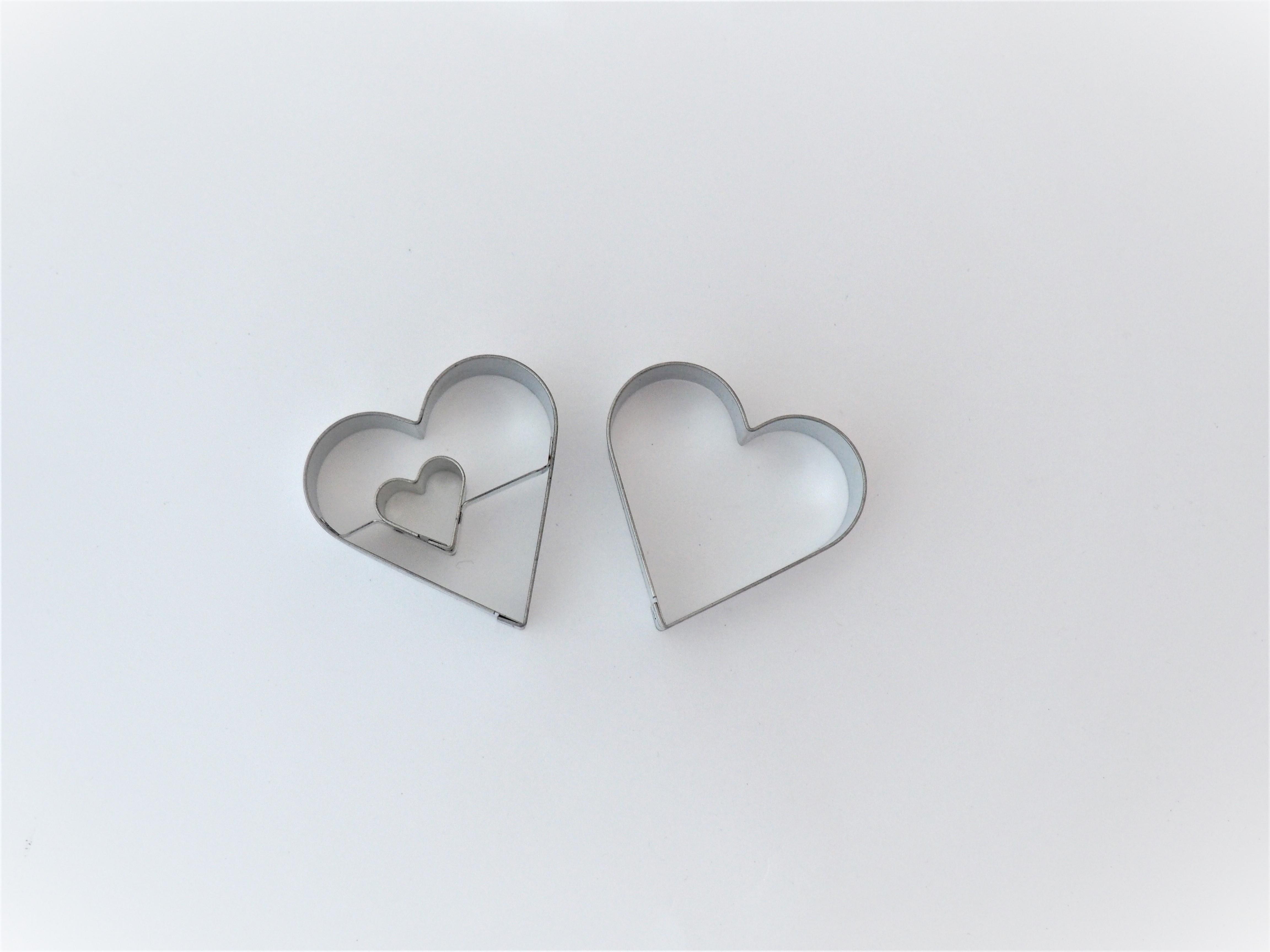 Linzer Ausstecher Herz mit Herz 2-teilig