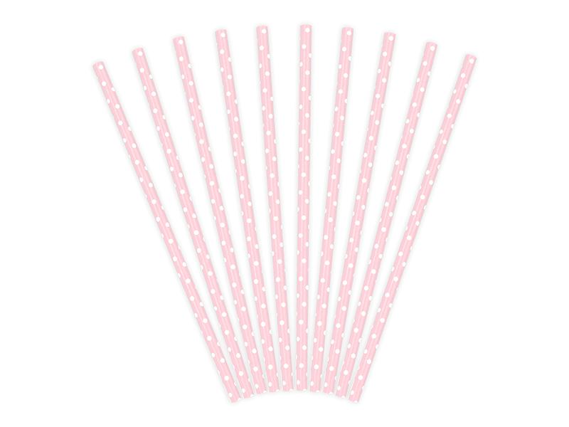 Cake Pop Stäbchen rosa gepunktet | 10 Stk.