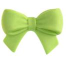 Schleife aus Zucker grün 5er Set