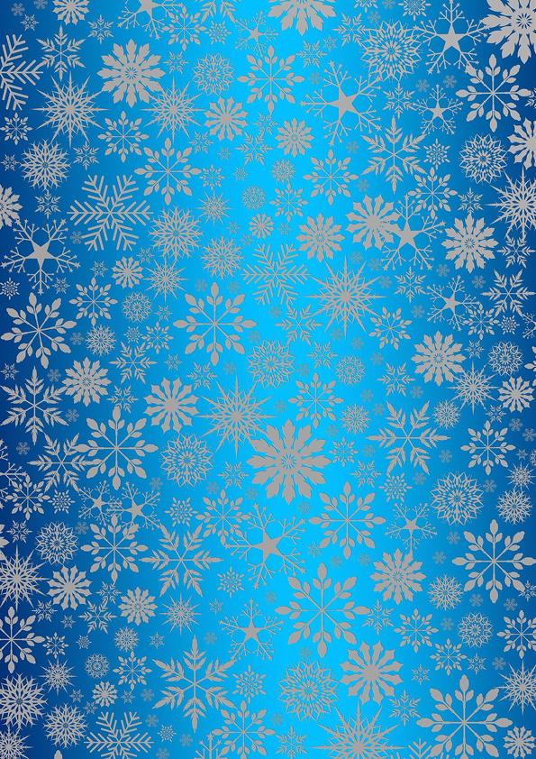"""Rouladendekor """"Weihnachten blau"""""""