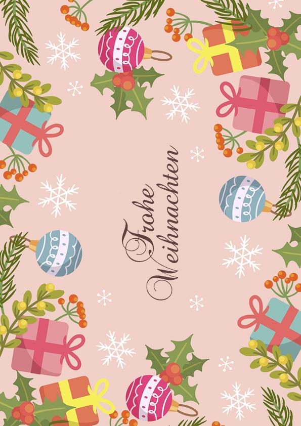 """Rouladendekor """"Frohe Weihnachten"""""""