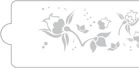 Schablone Blumen