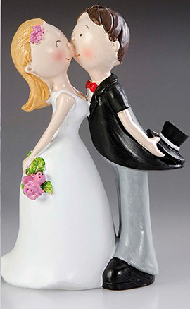 Brautpaar Küssend