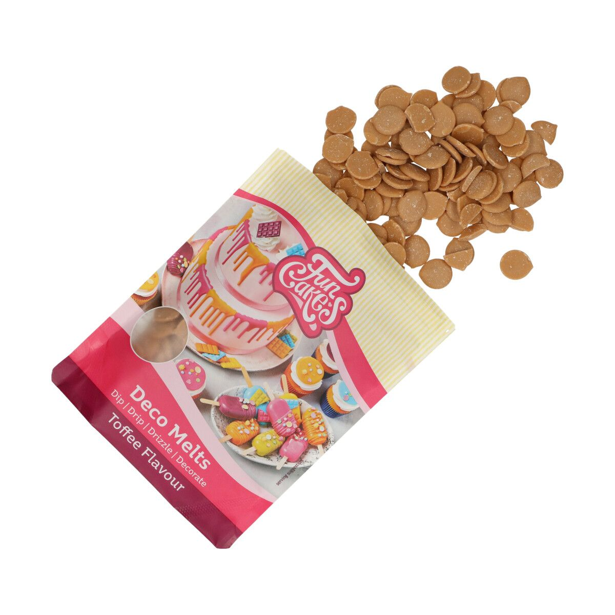 Candy Melts Braun mit Toffee Geschmack 250g