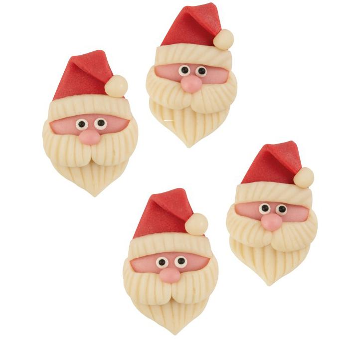 Marzipan Weihnachtsmann Nikolaus 4 Stk.