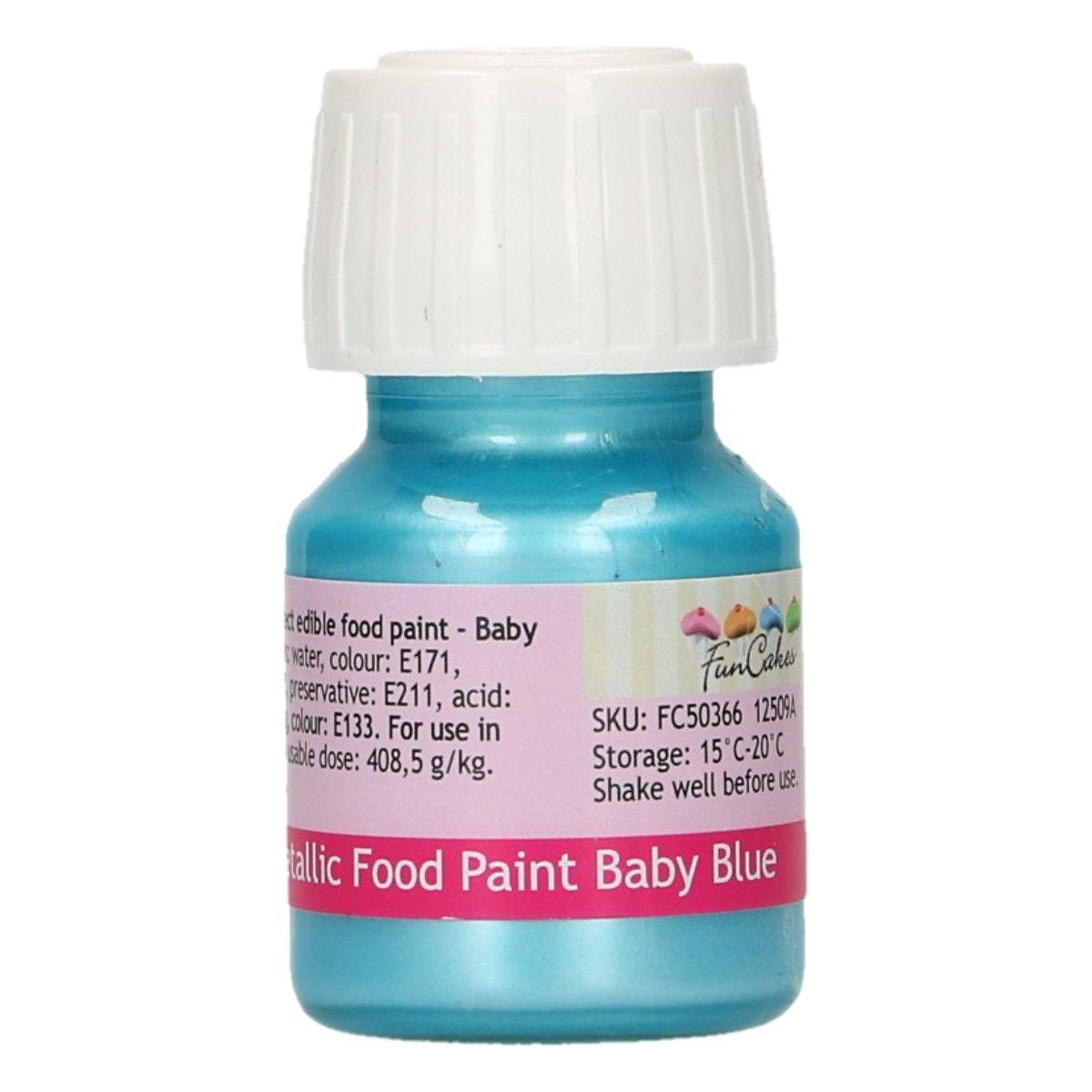 Essbare Farbe metallic Babyblau