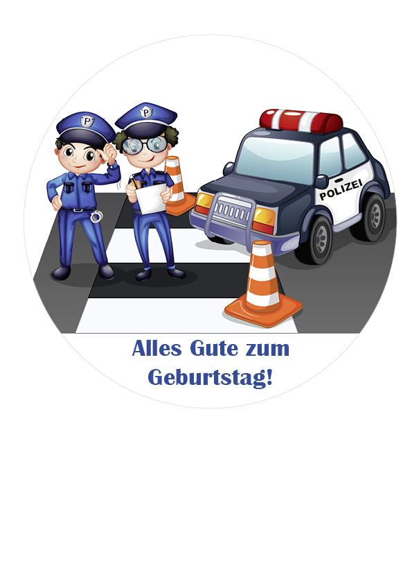Tortenbild Polizei