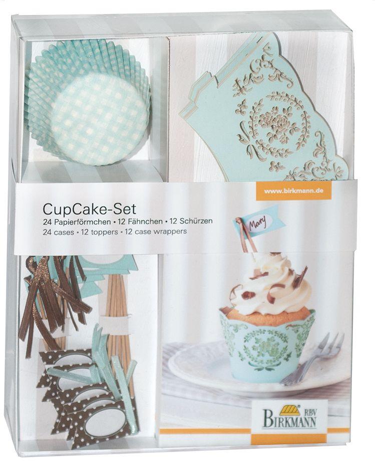 Cupcake Deko Set mint