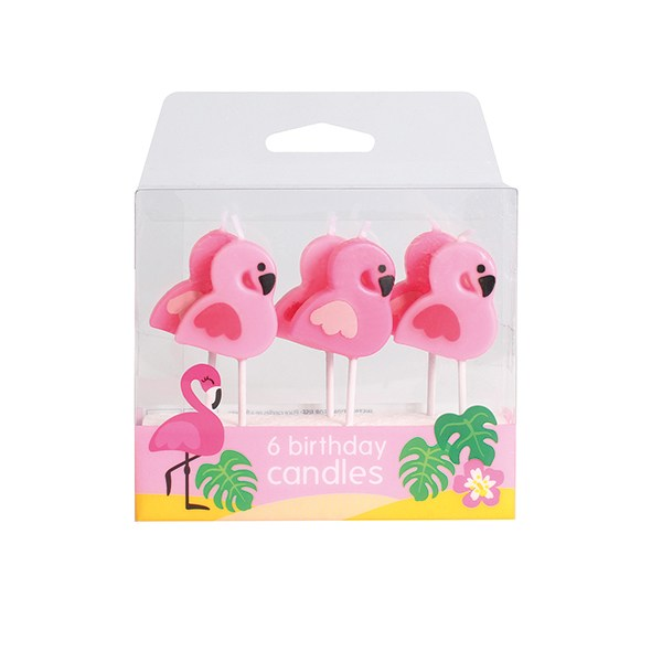 Flamingo Kerzen - 6 Stück