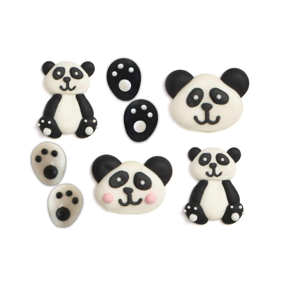 Pandabären Zuckerdekoration