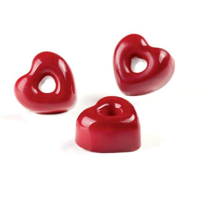 Pavoni Polycarbonat PC55 Profi Gussform für Pralinen Herz Iconic Heart