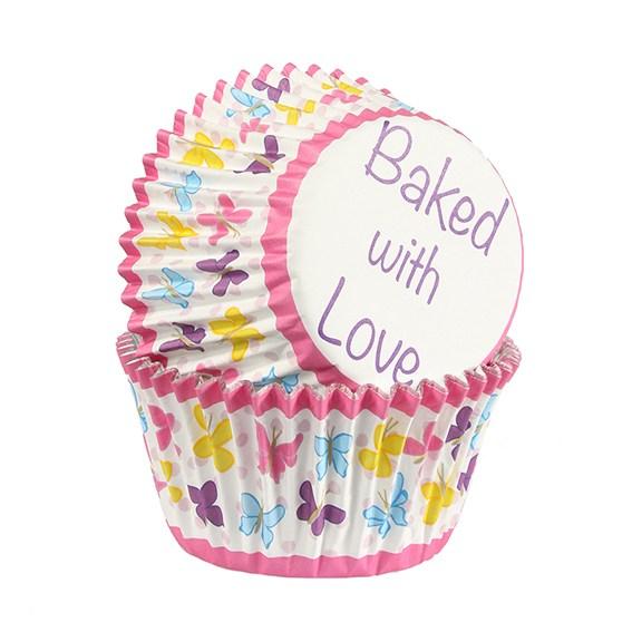 Cupcake Förmchen Schmetterling 25 Stück